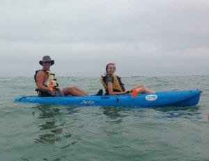 Daughter Avery kayak